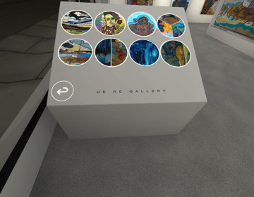 With Digital De Re Gallery, immersiv.ly created the first art opening in interactive virtual reality. The artist Gretchen Andrew helps you choose your path round her art, activating additional content at your own pace.