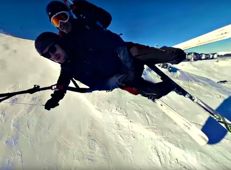 Ed Miller goes speed flying on the slopes of Val Thorens, France